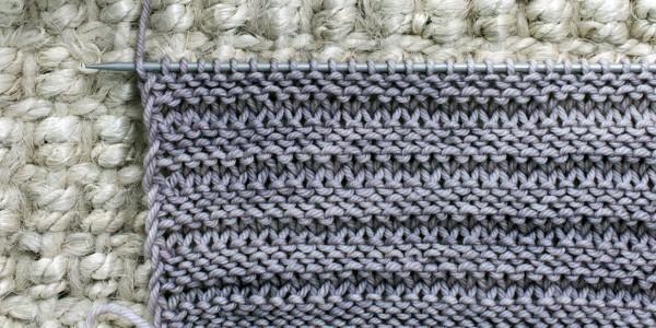 Elongated Knit Stitch Swatch Using Malabrigo Rios Yarn