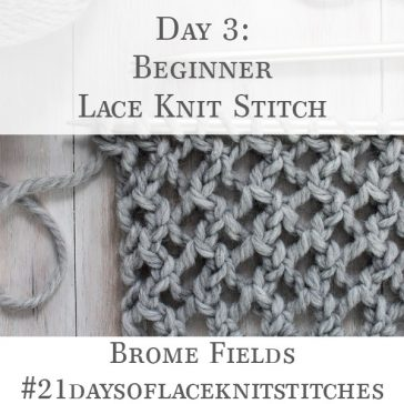 Super Bulky Lace Knit Swatch