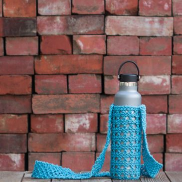 Knit Water Bottle Sling with Hydro Flask