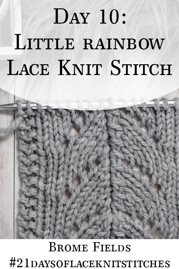 Swatch of the Little Rainbow Lace Knit Stitch