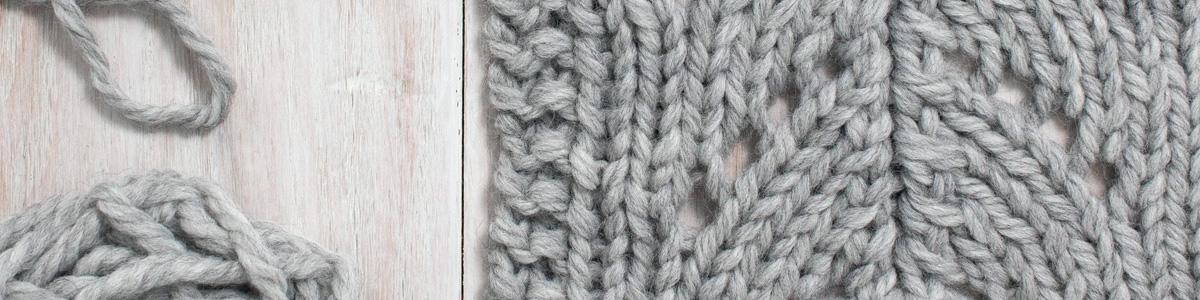 Up-close Photo of Little Rainbow Lace Knit Stitch