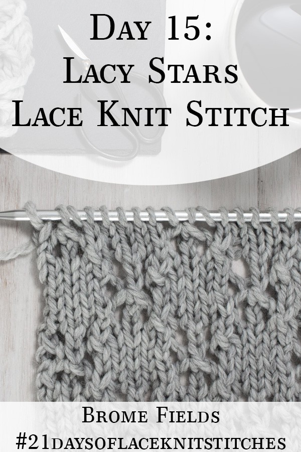 Swatch of the Lacy Stars Lace Knit Stitch