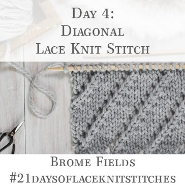 Diagonal Lace Knit Stitch