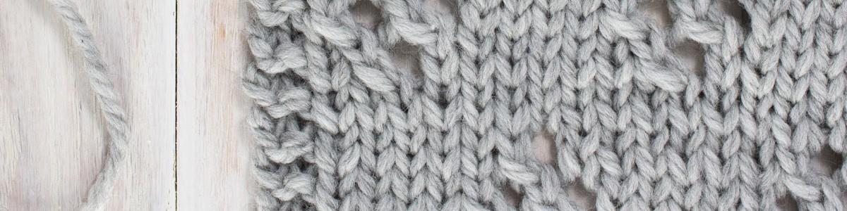 Swatch of the Diamond Lace Knit Stitch
