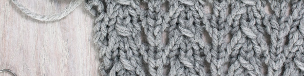 Up-close Photo of Little Fountain Lace Knit Stitch