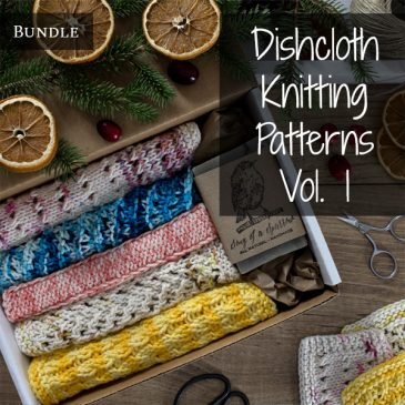 Dishcloth Knitting Pattern Bundle Vol. 1