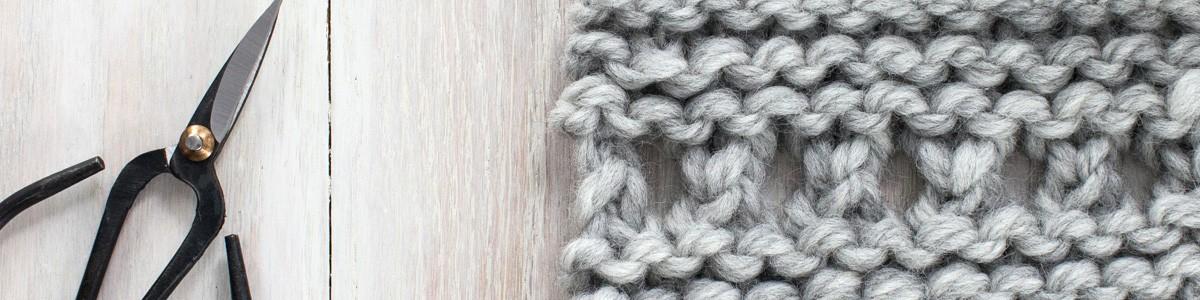 Swatch of Garter Ridge Lace Knit Stitch
