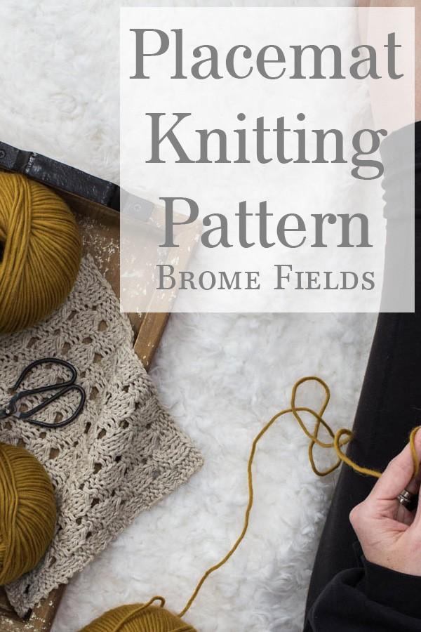 Checkered Lace Knitting Pattern