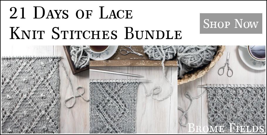21 Days of Lace Knit Stitches Bundle