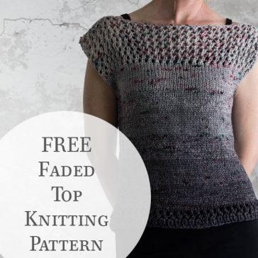 Knit Fall Sweater on a Model