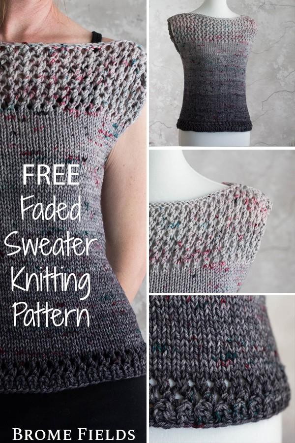 Multiple Knit Fall Sweater on a Model & Dress Form