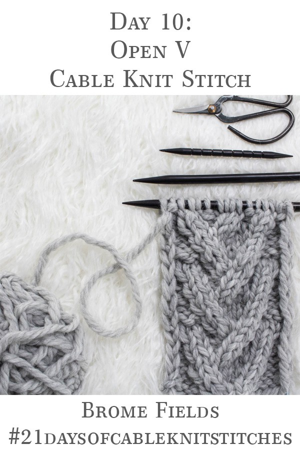 Learn how to knit the Open V-Stitch Cable Knit Stitch in today's video tutorial + grab the FREE Headband Knitting Pattern!
