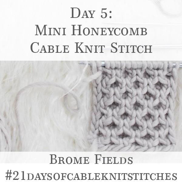 Day 5 : Mini Honeycomb Cable Knit Stitch : #21daysofcableknitstitches