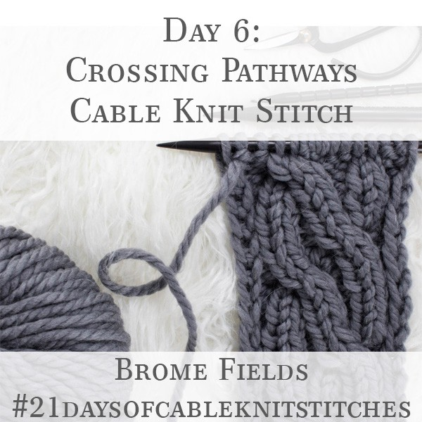 Day 6 : Crossing Pathways Cable Knit Stitch : #21daysofcableknitstitches