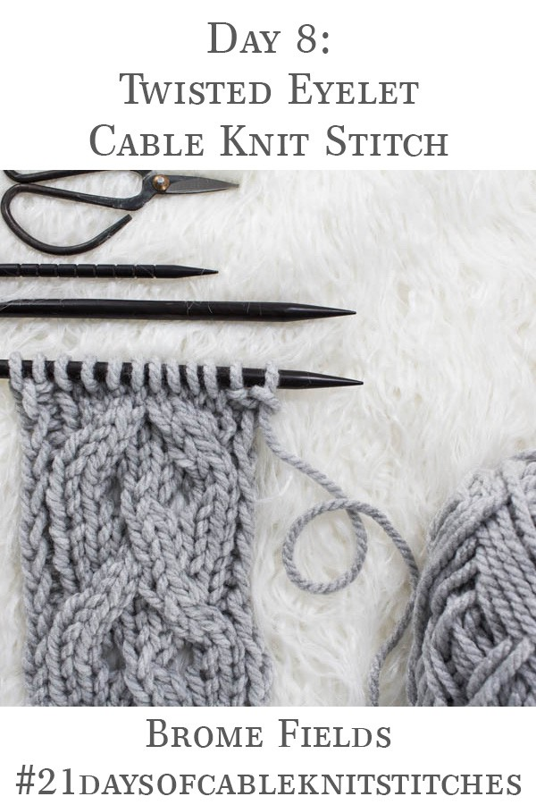 swatch of cable knit stitch