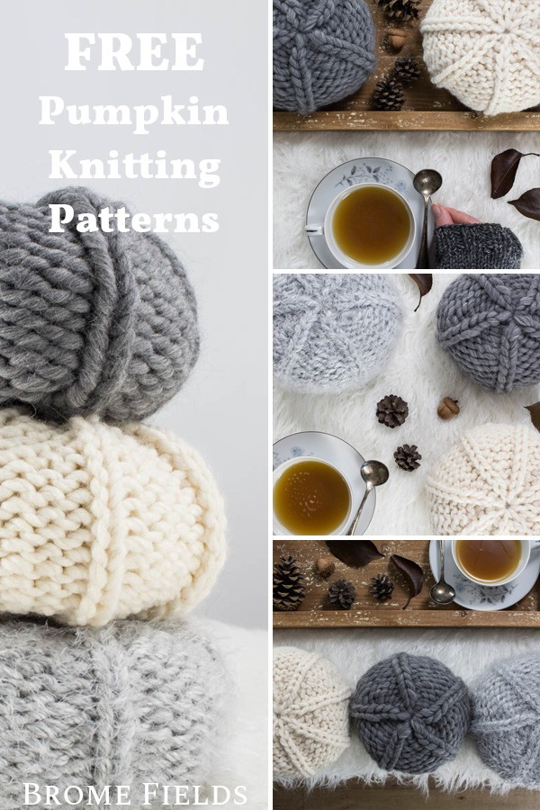 fall knitted pumpkins