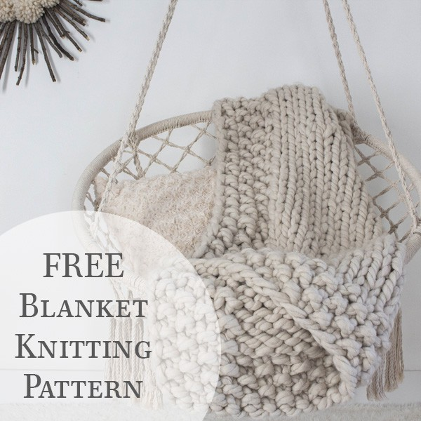SNUGGLED UP : Chunky Throw Blanket Knitting Pattern