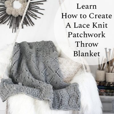 Lace Knit Patchwork Throw Blanket on a Cozy Swing
