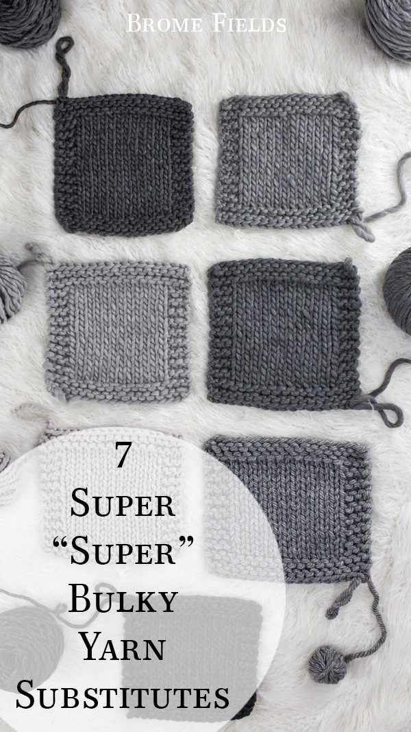 super bulky yarn gauge swatches