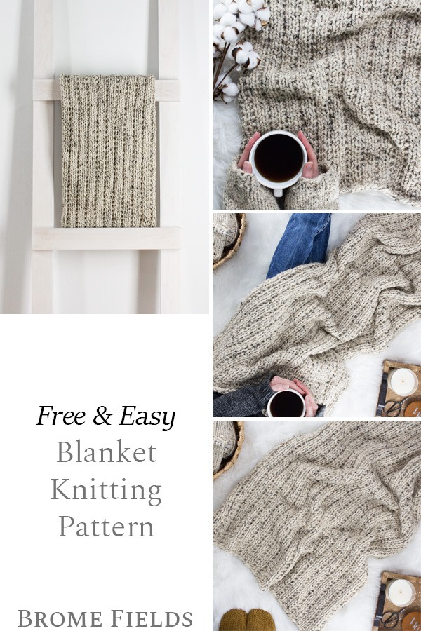 multiple pics of a hand knit blanket