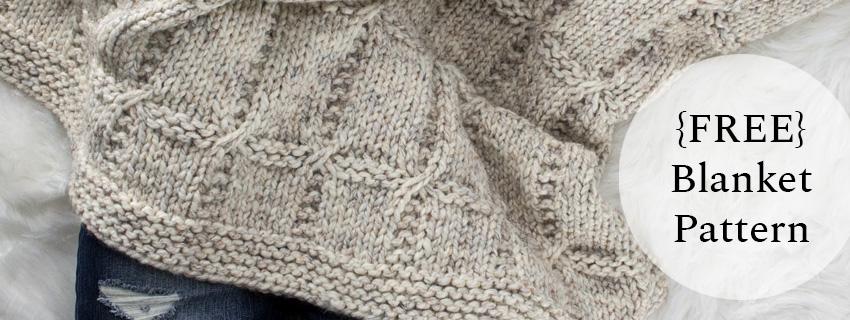 knit blanket on a fur blanket
