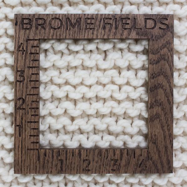 knit scarf gauge