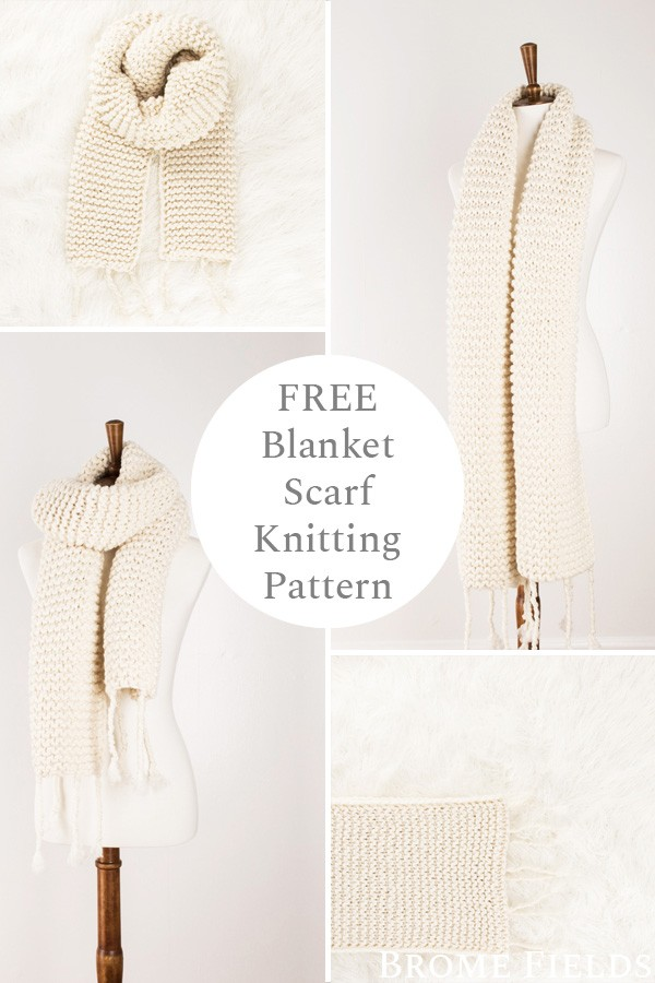 multiple images of a knit scarf