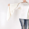 model wearing knit scarf