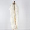 knit scarf on a dress form